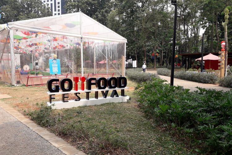 Suasana di Go Food Festival GBK, Senayan, Selasa (24/7/2018).