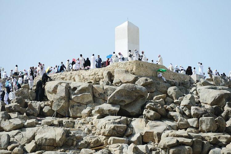 Jabal Rahmah di Arafah, Arab Saudi.
