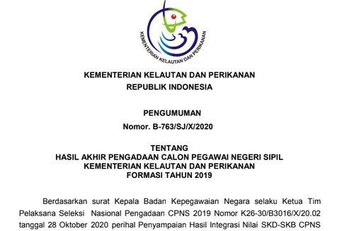 KKP Rilis Hasil Akhir CPNS 2019, Simak Informasi dan Ketentuannya di Sini!