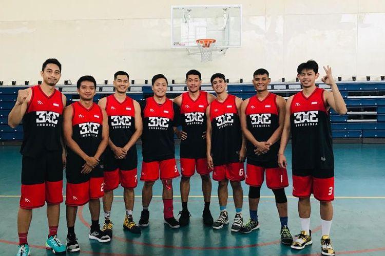 Timnas basket 3x3 putra Indonesia.