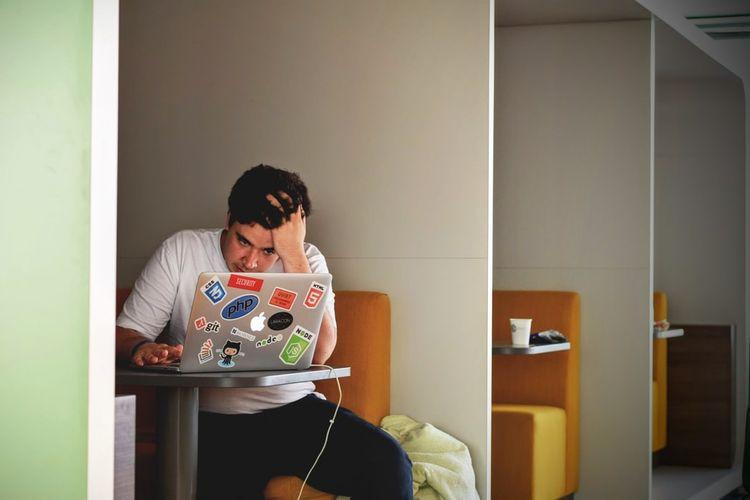 Ilustrasi burnout kerja.