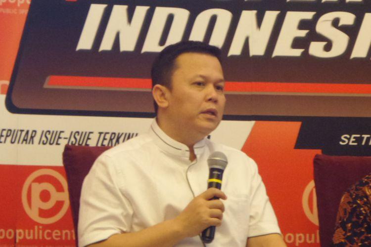 Ketua DPP Partai Golkar Andi Sinulingga alam sebuah acara diskusi di Menteng, Jakarta Pusat, Sabtu (18/11/2017).