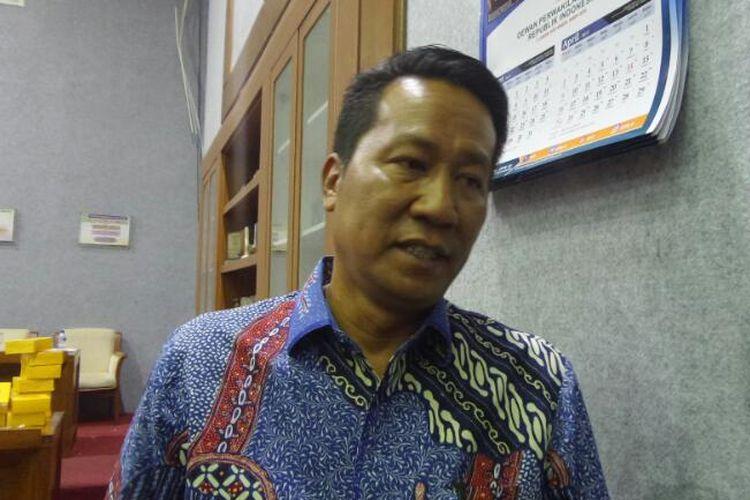 Ketua Badan Legislasi, Supratman Andi Agtas di Kompleks Parlemen, Senayan, Jakarta, Senin (10/4/2017).