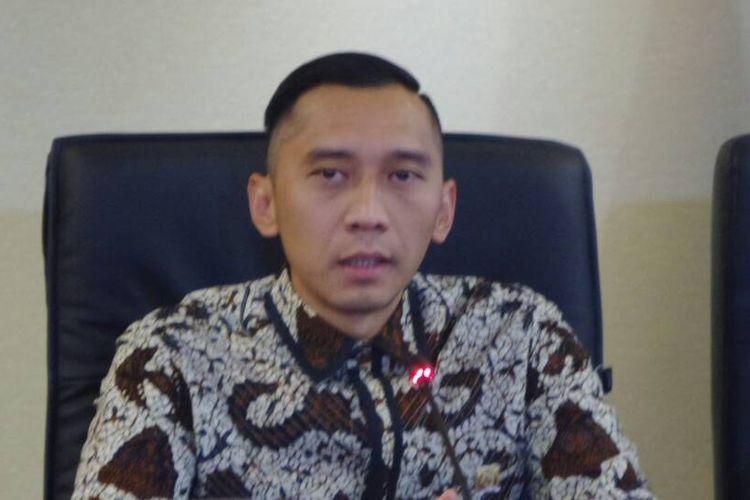 Ketua Fraksi Partai Demokrat di DPR, Edhie Baskoro Yudhoyono (Ibas) di Kompleks Parlemen, Senayan, Jakarta, Kamis (27/4/2017).