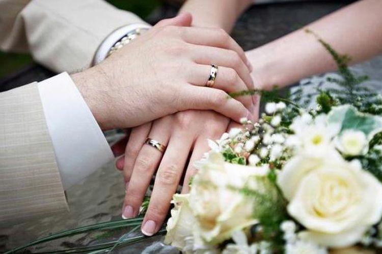 Ilustrasi menikah.