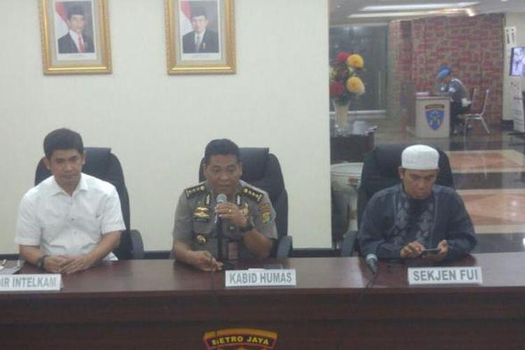 Konferensi pers persiapan aksi 212 di Mapolda Metro Jaya, Senin (20/2/2017).