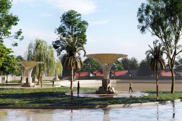 Konsep desain Embung Sanur, Kecamatan Selatan, Kota Denpasar, Provinsi Bali.