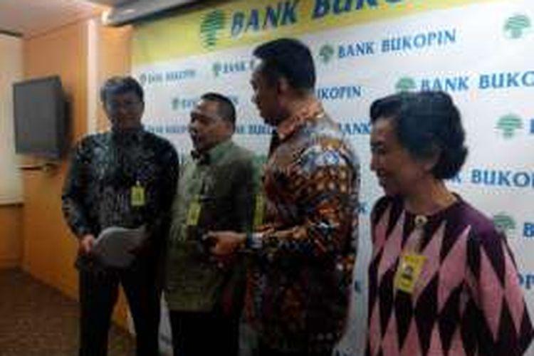 Konferensi pers Bank Bukopin sebagai bank gateway pengampunan pajak, Rabu (20/7/2016)