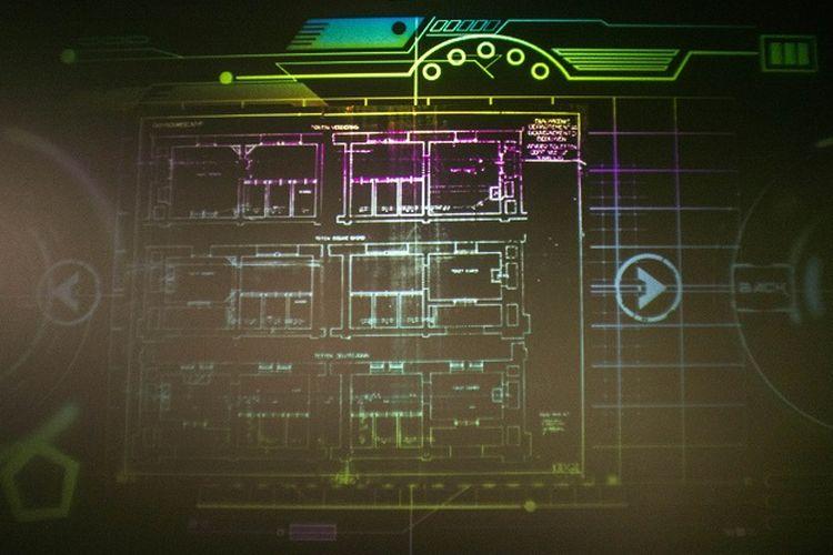 Melalui media interaktif ini, kamu bisa melihat apa saja yang membentuk Gedung Sate. Cara menggunakannya adalah dengan menekan dan menggeser tombol tanda panah dengan menggunakan lima jari, Gedung Sate, Bandung, Kamis (16/1/2020).
