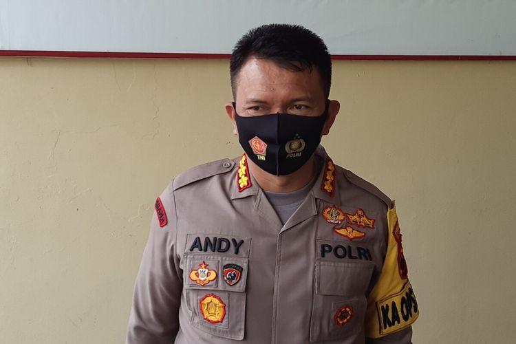 Kapolresta Solo, Kombes Pol Andy Rifai dalam konferensi pers di Mapolresta Solo, Jawa Tengah, Senin (10/8/2020).