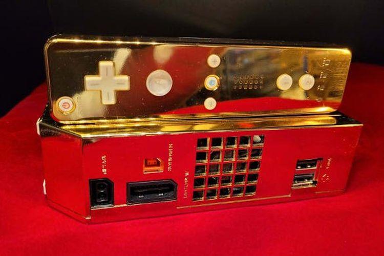 Konsol game Nintendo Wii emas yang awalnya dibuat untuk dikirimkan ke Ratu Elizabeth II, kini dijual melalui Ebay.