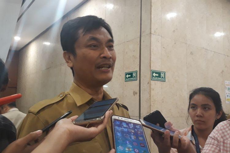 Kepala Dinas Pemuda dan Olahraga DKI Jakarta Achmad Firdaus di Balai Kota DKI Jakarta, Senin (14/10/2019).