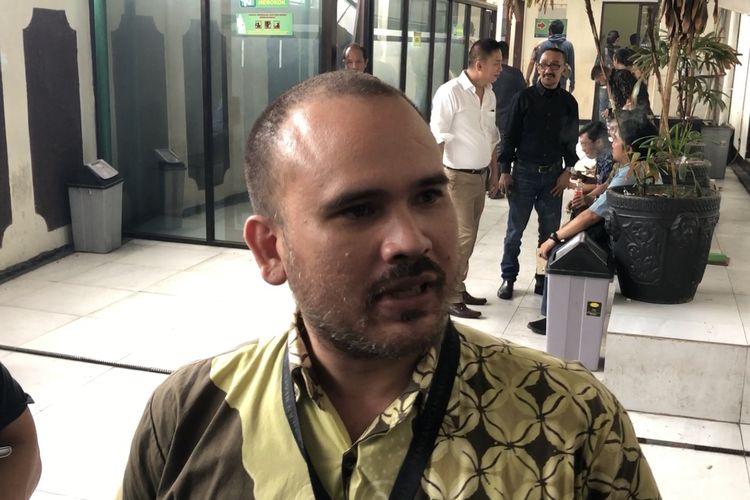 Arya Satria ditemui di Pengadilan Negeri Jakarta Selatan, Selasa (3/12/2019)