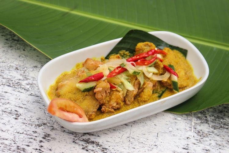 Ilustrasi ikan acar kuning khas Jawa Barat.