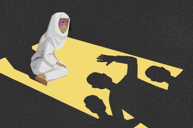 Ilustrasi perbudakan di Arab Saudi.