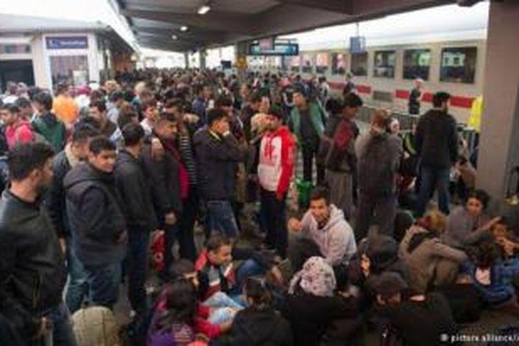 Para pengungsi di Eropa.