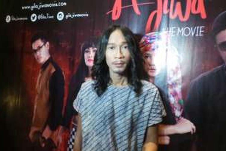 Aming saat pemutaran perdana film Gila Jiwa di XXI Epicentrum Walk, Jakarta Selatan, Selasa (5/4/2016) malam.