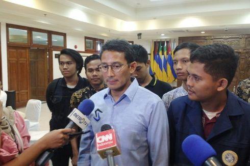 Sandiaga Uno Dukung Jokowi soal Omnibus Law