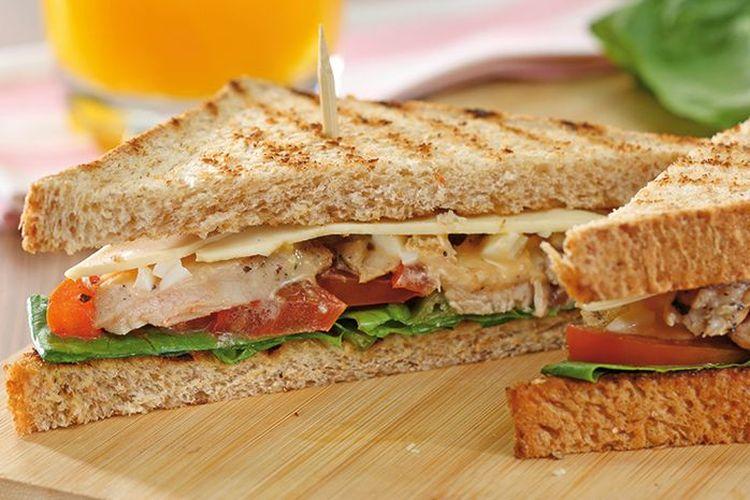 Ilustrasi sandwich ayam.