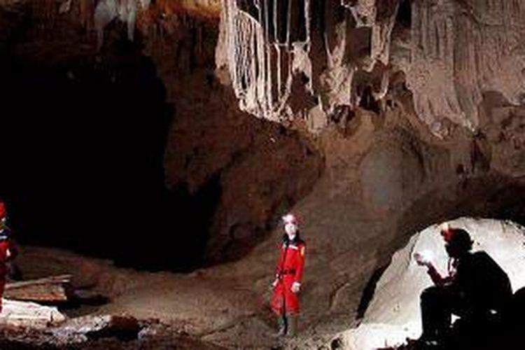 Eksotisme bawah tanah di kawasan karst Gunung Sewu, Pacitan, Jawa Timur.