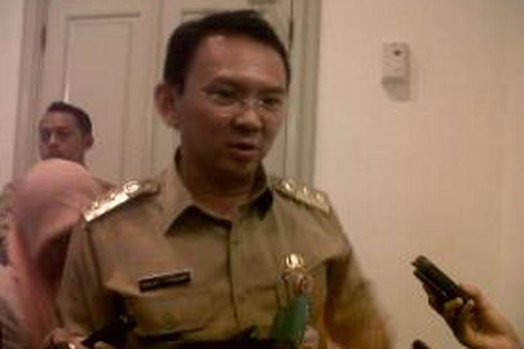 Wakil Gubernur DKI Jakarta Basuki Thajaja Purnama atau Ahok saat ditemui di Balaikota, Jakarta, Senin (2/9/2014).