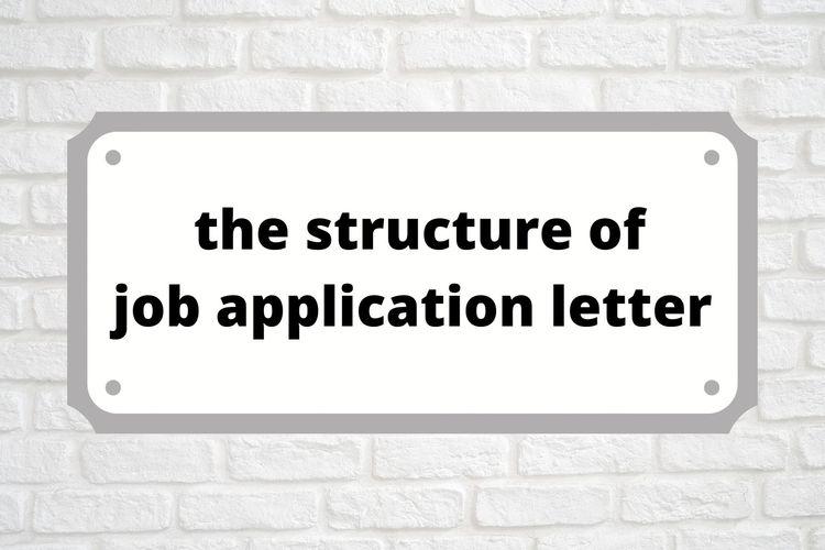 Structure Of A Job Application Letter Halaman All Kompas Com