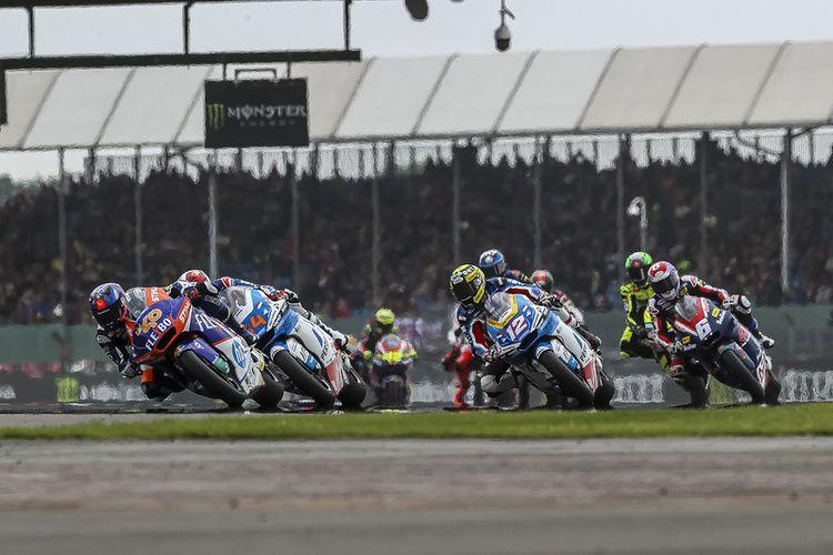 Pertamina Mandalika SAG Team saat berlaga pada Moto2 Inggris 2021
