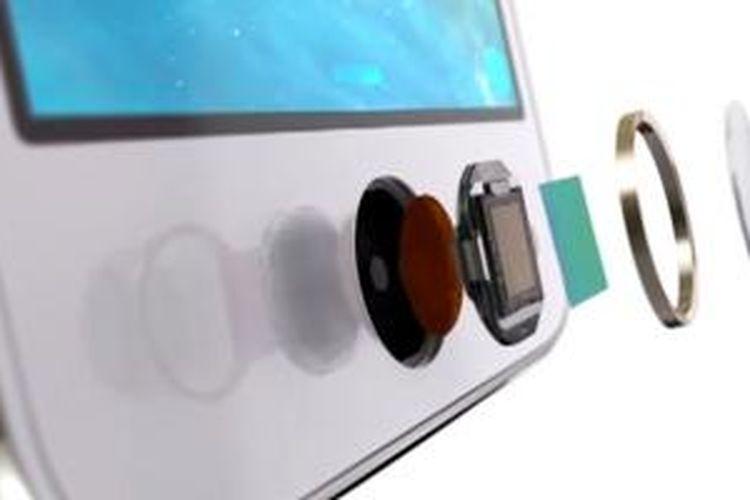 Hardware pemindai sidik jari di balik tombol