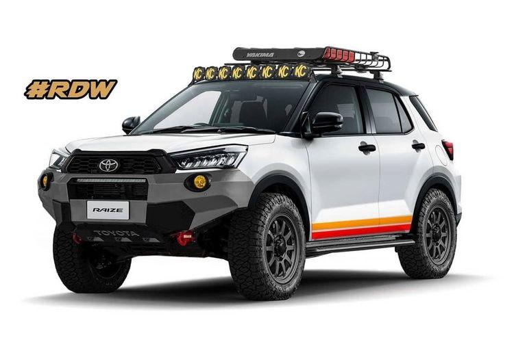Hasil olah digital Toyota Raize versi offroad