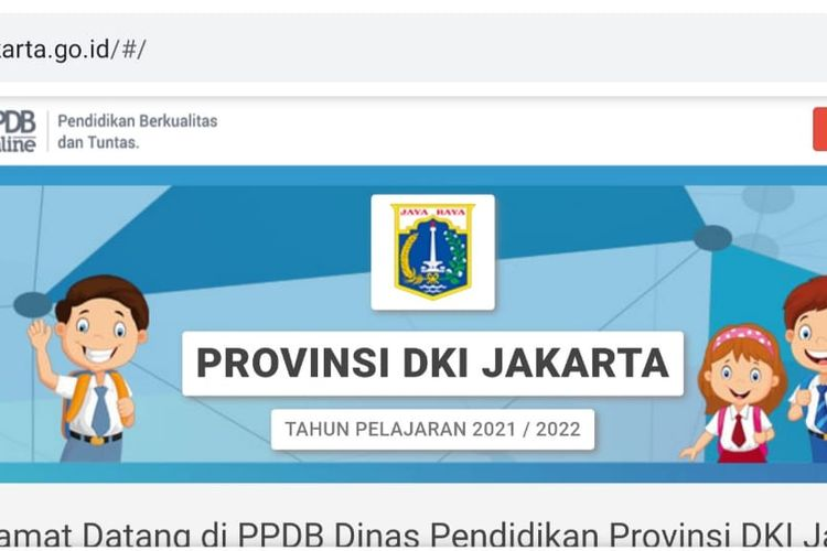 Laman PPDB Jakarta 2021 online,
