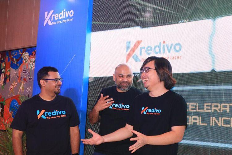 (ki-ka) Umang Rustagi - Co-Founder dan CEO Kredivo, Akshay Garg - Co-Founder dan CEO FinAccel, Alie Tan - Co-Founder dan CEO KrediFazz.