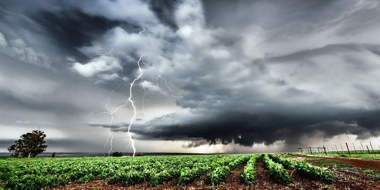 Ilustrasi cuaca ekstrem