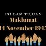 Isi dan Tujuan Maklumat 14 November 1945