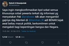 Jadi Menhan, Prabowo Tak Ambil Gaji dan Tak Pakai Mobil Dinas