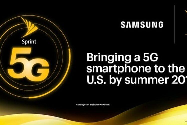 Ilustrasi Poster Samsung dan Sprint 5G