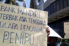 Ratusan Nasabah Demo di Kantor Bank Mandiri