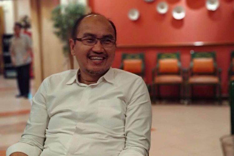 Kandidat Wakil Gubernur DKI Jakarta dari Partai Keadilan Sejahtera (PKS) Agung Yulianto di Restoran Natrabu, Jakarta Pusat, Rabu (19/12/2018).