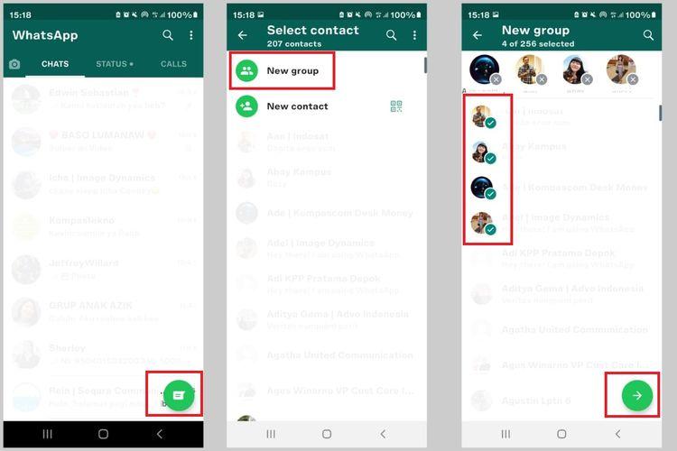 Cara membuat grup di aplikasi WhatsApp