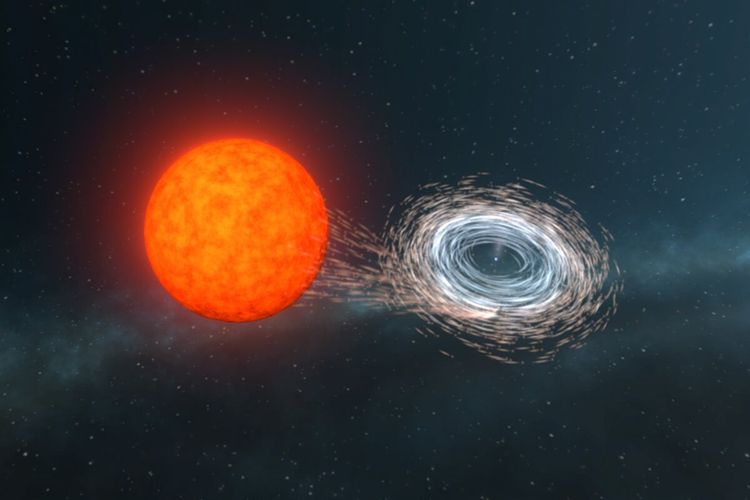 Gambaran tentang katai putih diputar oleh transfer materi dari pendampingnya. Material di permukaan bintang yang bengkak jatuh ke arah katai putih dan membentuk piringan materi yang bergerak begitu cepat sehingga menyebabkan bintang berputar dengan cepat.