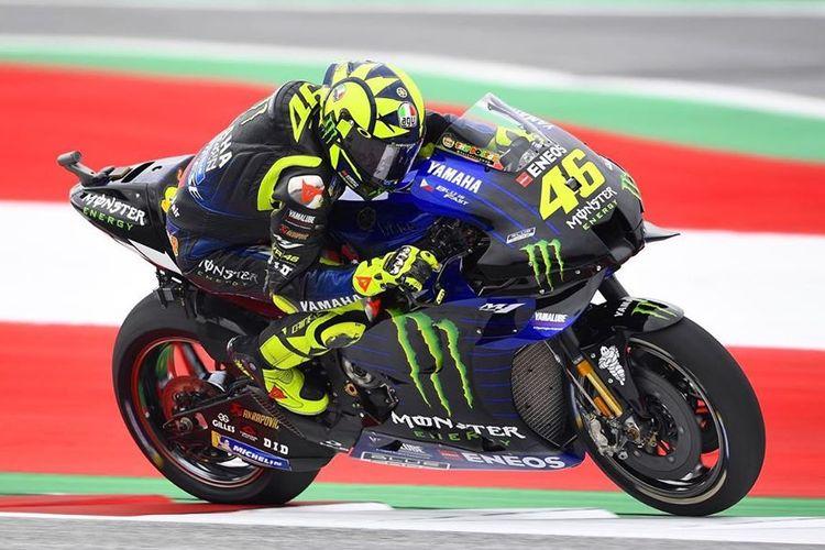 Valentino Rossi saat latihan bebas di MotoGP Austria 2020