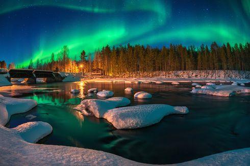 Liburan di Rumah Aja, Virtual Traveling Panorama Aurora Borealis