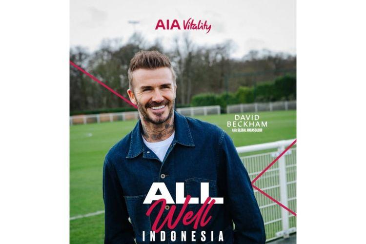 Mantan pemain sepak bola sekaligus global ambassador AIA, David Beckham.