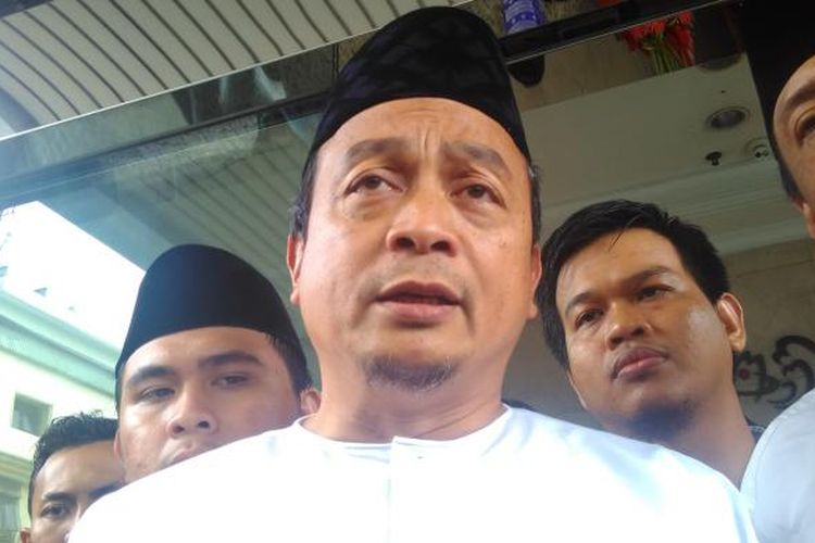 Ketua GNPF-MUI Bachtiar Nasir saat diperiksa di kantor Bareskrim Polri, Jakarta, Jumat (10/2/2017).