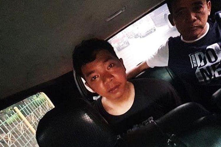 Ahmad Firdaus, tersangka peranpokan di Warteg di kawasan Petukangan Utara pada Selasa (21/1), ditangkap polisi pada Sabtu (25/1).