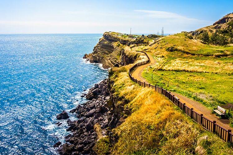 Pemandangan di Pulau Jeju.