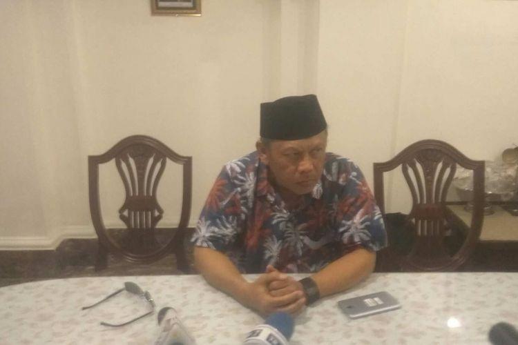 Eggi Sudjana ditemui di kawasan Pasar Minggu, Jakarta Selatan, Rabu (16/8/2017).