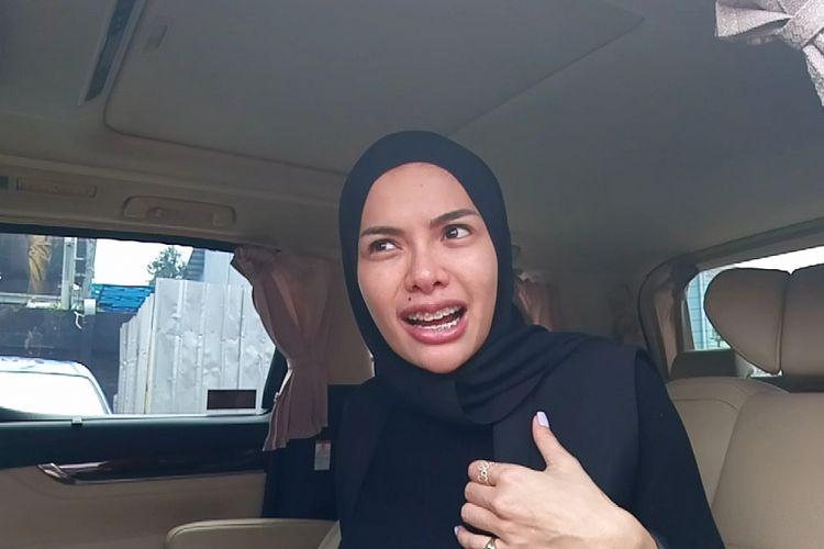 Nikita Mirzani saat ditemui di kawasan Tendean, Jakarta Selatan, Selasa (30/1/2018).