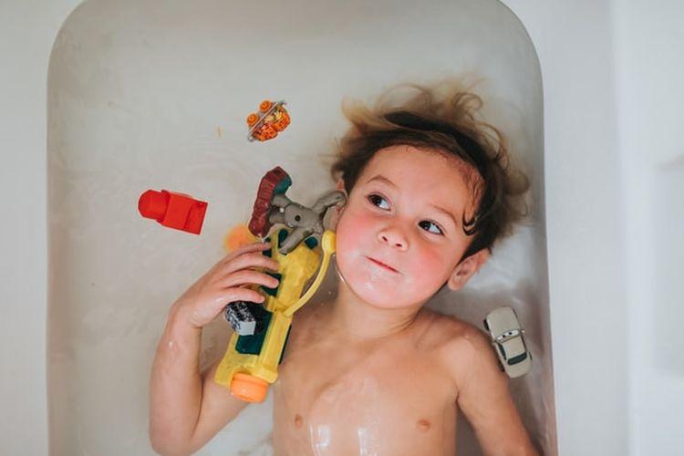 Ilustrasi kamar mandi anak