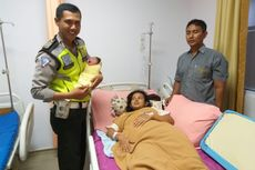 Cerita Ibu Hamil Tua Ditolong Polisi Lalu Lintas Saat Terjebak Macet, Akan Melahirkan hingga Sampaikan Terima Kasih