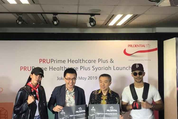 Peluncuran produk asuransi Prudential di Jakarta, Senin (20/5/2019).